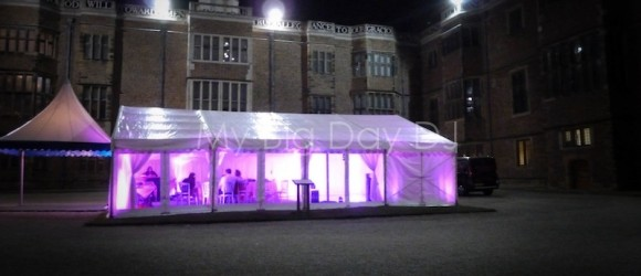 Wedding disco at Temple Newsam, nr Leeds